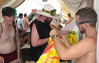 Burning Man – 07 – Friday flag class